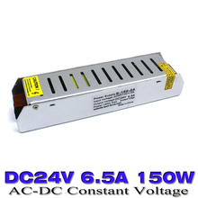 universal power supply 24v power Adapter 100-240V AC-DC 24v SMPS 6.5A 150W Power Supplies for Led Display Strip lamp 10pcs(China)