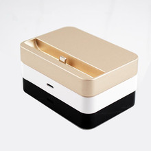 500pcs Top Quality Portable Data Sync Base Micro USB Charging Syncing Docking Station Dock For iPhone 5 5S 5c 6 Plus 6s iPod(China)
