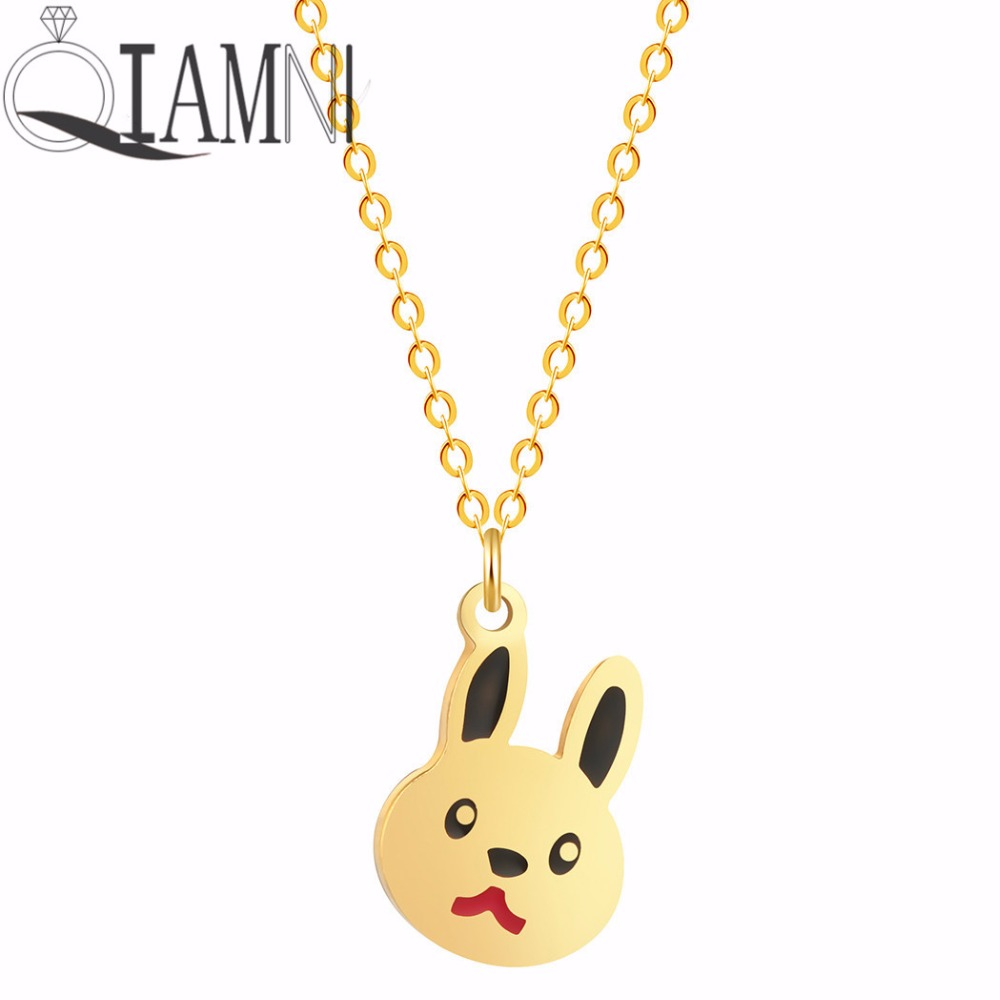 QIAMNI-Lovely-Rabbit-Animal-Bunny-Chain-Pendant-Necklace-Birthday-Pet-Lover-Gift-for-Women-K