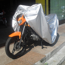 All Size Silver Universal Motorcycle Covers Waterproof Outdoor UV Rain Protector Scooter Covers For Harley Honda Yamaha Suzuki(China)