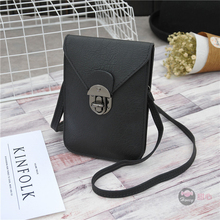 Korean version of the new female bag mobile phone bag wild mini change shoulder students big screen mobile phone bag Messenger b