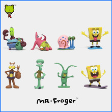 Mr.Froger Sponge Patrick Bob Plankton Mr.Krabs Squidward Gary Action figure cute Models Dolls Related Products juguete Classic
