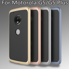 Luxury Hybrid case For Motorola Moto G5 Plus High quality Hard PC frame+Silicone Protective back cover for Moto G5 G5Plus shell