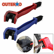 OUTERDO Nylon & ABS Motorcycle Bike Chain Tire Maintenance Cleaning Brush Cycling Brake Dirt Remover Bicycle Chains Cleaners(China)