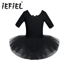 iEFiEL Lovely Baby Kids Girls Dancewear Gymnastics Tutu Ballet Dance Leotard Dress Children Girls Ballet Dance Performance Dress(China)