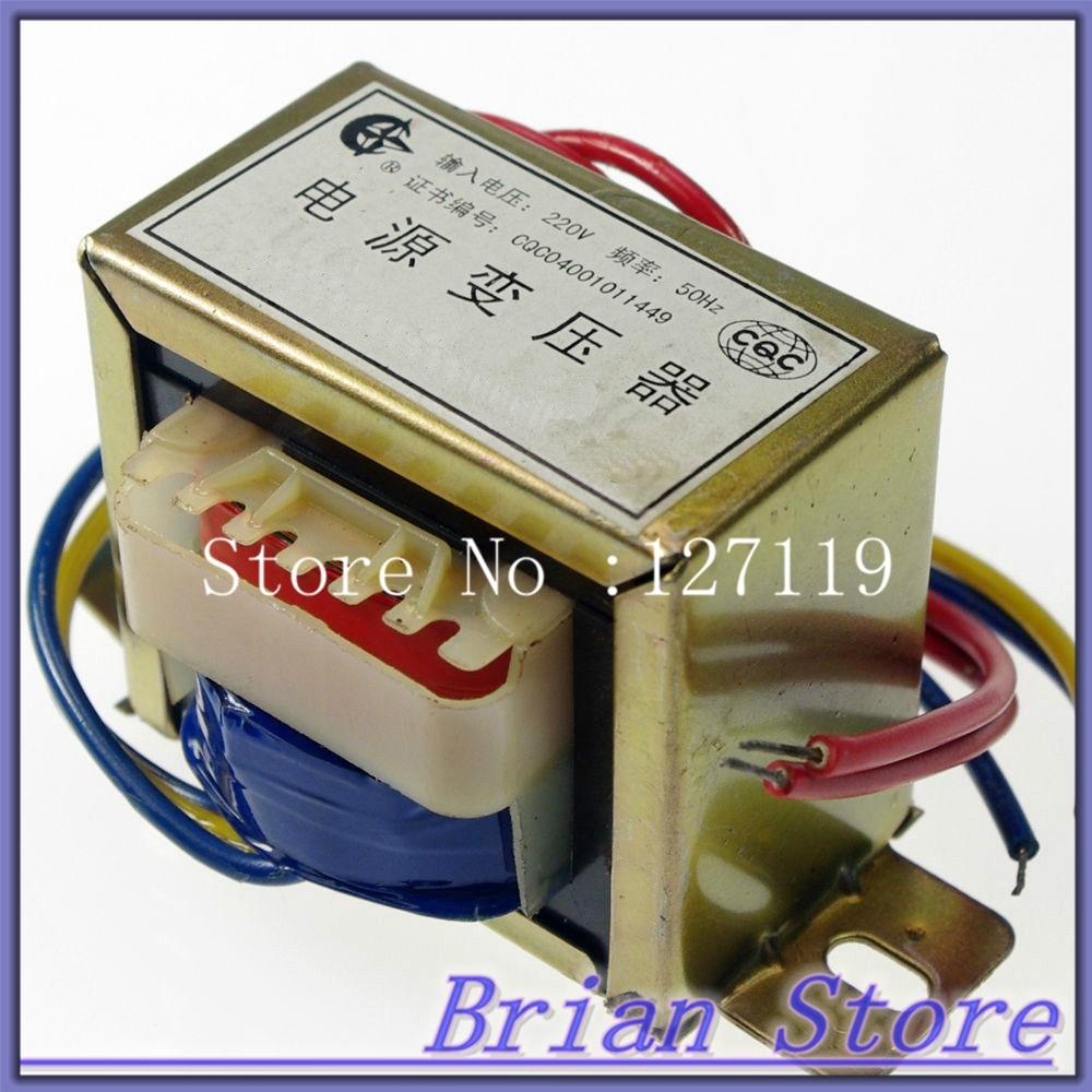 (1) 6VAC-0-6VAC Output Voltage 30W EI Ferrite Core Input 220V 50Hz Vertical Mount Electric Power Transformertoroidal transformer<br>