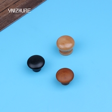 2017 Special Offer Puxador 10pcs Wood Cabinet Knob Small Single Handle Pull Cupboard Closet Drawer Furniture Wholesale Mushroom