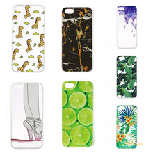 Ultra thin Transparent soft shell TPU For Apple iPhone 5S case painted flowers back cover for Apple iPhone 5S phone capa bag