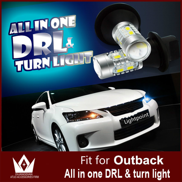 Guang Dian car led light Daytime running light with turn light Drl with turn signal light 20w 7440 wy21w T20 For Outback 2010<br><br>Aliexpress
