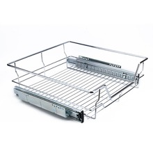500mm Keuken Schuifdeur Kast Organizer Pull Out Chrome Draad Opslag Mand Lade Kast Max Laden 20 kg(China)