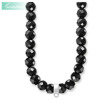Necklace Silver Obsidian Carrier Trendy Gift For Women & Men, Thomas Style Soul Jewelry TS 925 Sterling Silver Fashion Jewelry