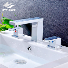 Uythner Big Discount Newly Solid Brass Bathroom Chrome Finish Basin  Faucet Mixer Tap Deck Mounted Handmade