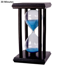 30 Minutes Crystal Transparent Sand Hourglass Timer Sandglass Timer Reloj De Arena With  Wooden Holder Home Decor Ampulheta