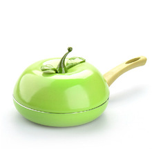 Hot Sale Fruit Frying Pan Colour Saucepan Ceramic Pan Grill Pan Cast Aluminum Cookware Gas Grill Pan(China)