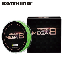 KastKing Mega8 New Braid Line 300Yds/274M 0.14-0.50mm 10-80LB 8 Strands Super Strong Green Braided Fishing Line for Sea Fishing(China)