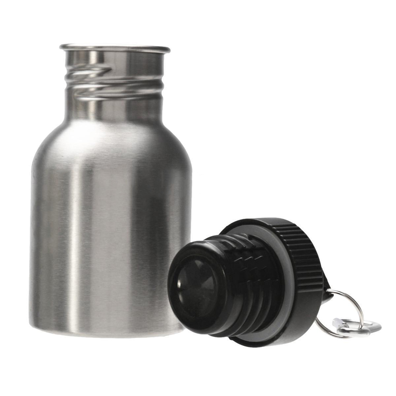 stainless steel wide mouth drink bottle