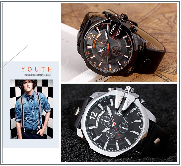18 Style Fashion Watches Super Man Luxury Brand CURREN Watches Men Women Men's Watch Retro Quartz Relogio Masculion For Gift 15