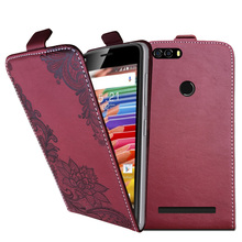 3D Stereo Embossing lace flower butterfly flip up and down leather phone bag cover case for Leagoo KIICAA Power