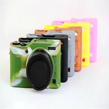 Soft Silicone Rubber Camera Case For Lumix GF9 gf9 Protective Body Cover Pouch Skin Colors Black Brown Gray Green Yellow Pink