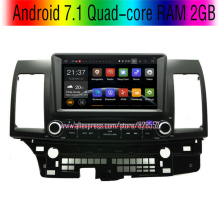 Free Shinpping Android 7.1 Quad-core RAM 2GB Car DVD Player For Mitsubishi Lancer GPS Radio With 3G/wifi USB  BT