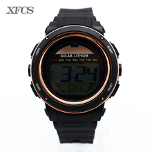 XFCS lady waterproof wrist digital automatic watches for women digitais watch running ladies clock buckle rubber swim outdoor tt