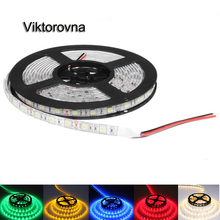 5050 SMD RGB Led Strip Light 60Leds/M DC 12V Non /ip65 Waterproof Kitchen Cabinet Counter LED Tape white red pink blue lamp(China)