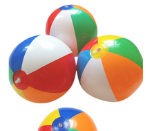 "LeadingStar Inflatable 12"" Rainbow Color Beach Balls (12 Pack) - Colors Varied"