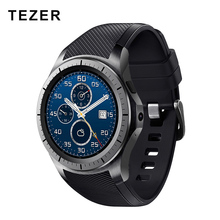 TEZER GW10 Dial Call 512MB+4GB RAM Heart Rate Monitor smart Watch for Android 5.1 3G / WiFi / GPS SIM Card Bluetooth music Video(China)