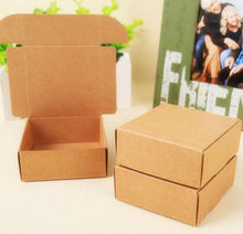 500pcs Wholesale fast shipping Cheap paper gift kraft carton box,kraft cardboard packaging box,corrugated paper soap box small
