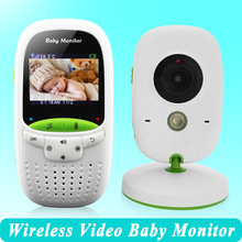 High quality Wireless 2.0 inch Video Color Baby Monitor Security Camera Baby Nanny Intercom Night Vision Temperature Monitoring(China)