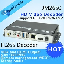 H.265 H.264 Decoder Replace VGA&HDMI output repleace topbox &PC transmitter IP encoder  decoder