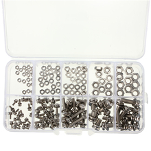 160pcs M2 M2.5 M3 M4 M5 Steel Screws SEM Phillips Pan Head Nuts Assortment Kit(China)