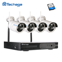 Techage Plug and Play 960P Wireless NVR Surveillance Kit P2P 1.3MP FULL HD Outdoor Security IP Camera WIFI CCTV System APP View
