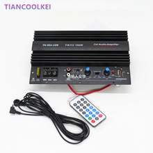 1000W car Subwoofer power amplifier board with USB plug U disk card SD Play musi mono bass amplifier board with 10 inch speaker