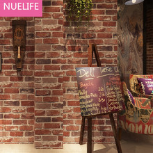0.53x10 Meter Retro Nostalgic 3D Stereo Brick Wallpaper Cafe Bar Restaurant Culture Stone Red Brick Wallpaper(China)