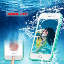 ALANGDUO Waterproof Phone Case life Water Proof Cases 5 5S Shockproof Anti-dirt Phone Cover Case 6S 5 for iphone 7 plus