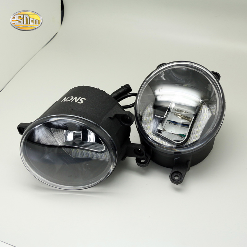 SNCN Led fog lamp for Toyota Daihatsu CALYA 2015-2017 with Daytime running lights drl dual mode accessories<br>