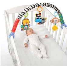 SOZZY Baby Hanging Toys Stroller Bed Crib For Tots Cots rattles seat cute plush Stroller Mobile Gifts 88CM Zebra Rattles(China)