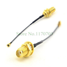 10 pcs  U.FL IPX Female to SMA Female Inner Hole Jack Pigtail Cable Jumper 10cm Connector Plug