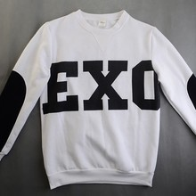 2017 Top Fashion New Kpop Hoodie Clothes Unisex Exo Shirt Poster Tshirt Sbs T-shirt Miracles Cotton Hoodies Exo Products(China)