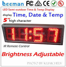 "Leeman 5 inch 5"" outdoor high brightness 10 inch 7 segment led display for gas stations sign"