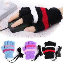 USB Color Mittens 1 Pcs Unisex Electric Hand Warmer Winter Heating(China)