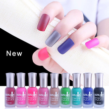 15 Colors Satin Frosted Bottle Long Lasting Nail Art Varnish Environmental Nail Polish Nude Color Quick Dry Matte Nail Polishes