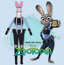 2017 release of the new film funny animals cosplay clothing cute rabbit cos clothing rabbit suit show suit(China)