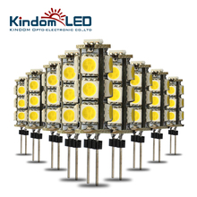 KINDOMLED 10Pcs G4 LED Light Bulbs Lamp 12 Volt 2W 3W 360Beam angle 13leds Led Bulb Replace 30W 60W Halogen Light For Chandelier