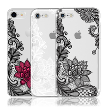 Floral Sexy Lace Mandala Case For iPhone X 8 7 6 6S Plus 5 5S SE 5C 4 4S For Xiaomi Redmi 4 4A 3S 3 S 4X Note 3 4 Pro Prime 4X