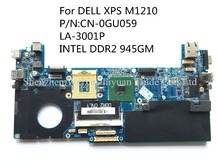 CN-0GU059 For DELL XPS series M1210 Laptop motherboard GU059 LA-3001P DDR2 945GM 100% tested