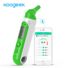 Koogeek Bluetooth Smart Thermometer Intelligent Electronic Thermometer Forehead Ear Dual Modes Baby Health Care Monitor with APP