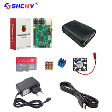 Raspberry Pi 3 + 2.5A Power Adapter + ABS Case +Heat Sink + CPU Fan + HDMI Cable + 8G 16G 32GB SD Card for Raspberry 3 Model B(China)