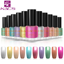KADS 9.5ml Two in one Nail Polish & stamp polish Metal 10 colors Optional Stamping Nail Polish For Nail Polish art(China)